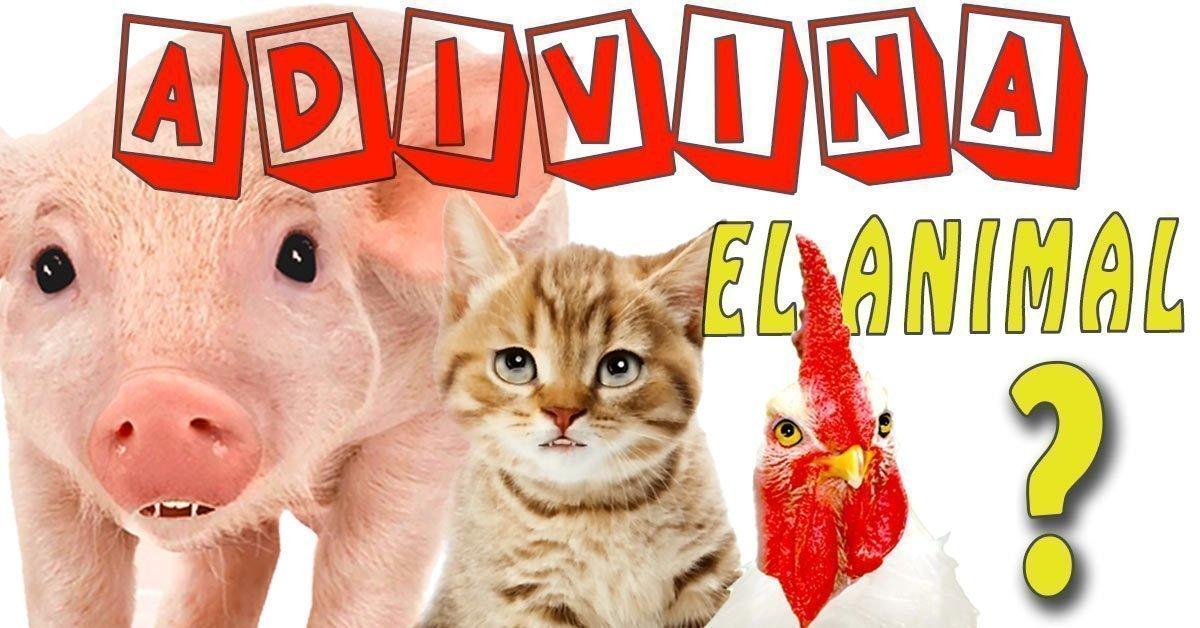 como aprender los nombres de los animales jugando para niños