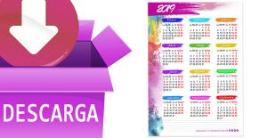 CALENDARIO 2019 PARA PARED GRATIS A4