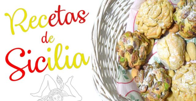 RECETA Pastas de almendra con pistachos y piñones de Sicilia