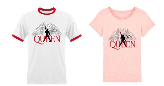 camisetas de Queen blancas para hombre y mujer