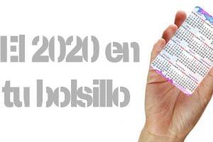 DESCARGA CALENDARIO 2020 DE BOLSILLO y cartera para imprimir