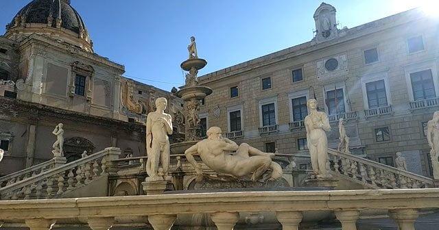 Plaza de la vergüenza en Palermo