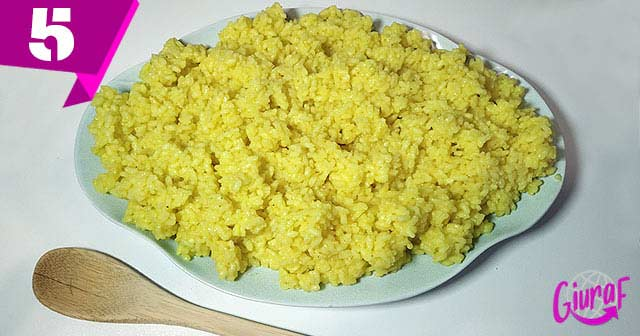 arroz con azafrán para hacer croquetas