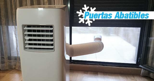 ADAPTADOR Aire Acondicionado Portatil para Puerta Ventana Abatible