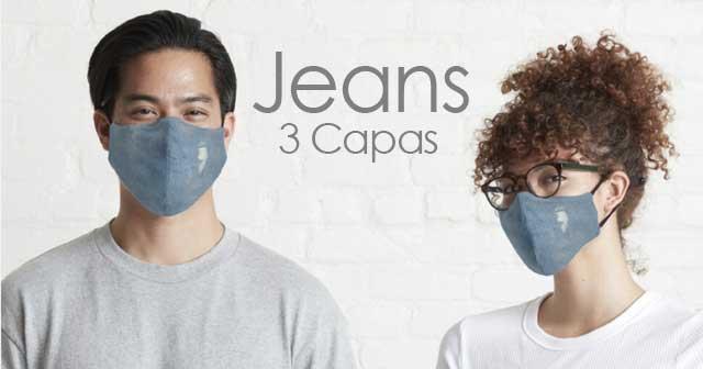 Mascarillas a la moda jeans Vaqueros rotos