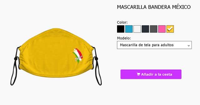 Mascarillas reutilizables con la bandera de México