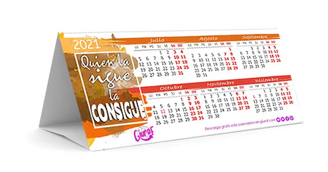 Calendario 2021 bonito para descargar e imprimir gratis
