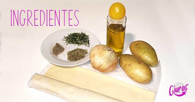 ingredientes receta fácil y económica para comer y cenar con papas (patatas)